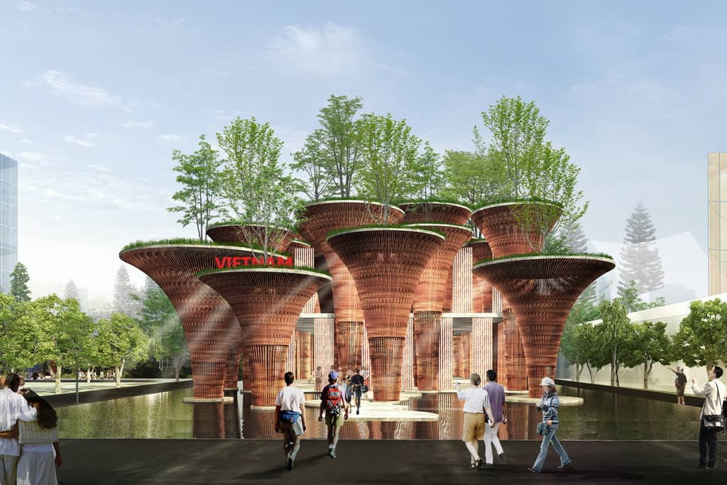 Lotus inspired Vietnam Pavilion in Expo milano