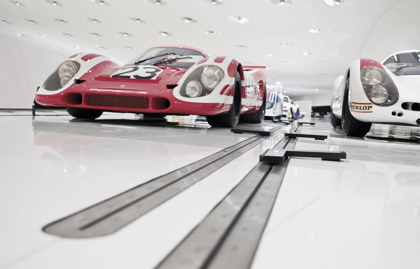 porsche museum car display
