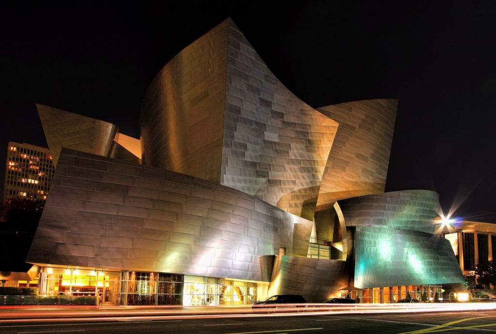 Walt Disney Concert Hall in Downtown Los Angeles.