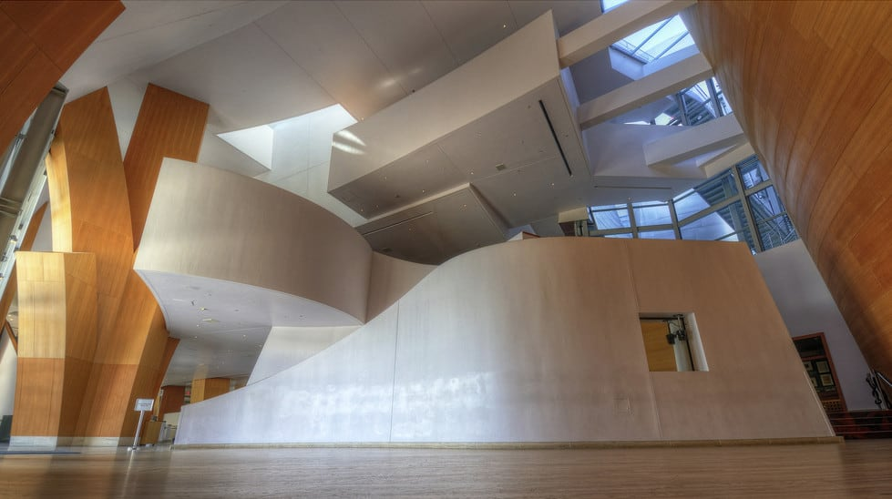 The Walt Disney Concert Hall Frank Gehry S Curvaceous Stainless Steel In Los Angeles Archute