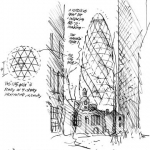 The gherkin - 30 st. mary axe tower sketch