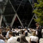 The gherkin - 30 st. mary axe tower exterior
