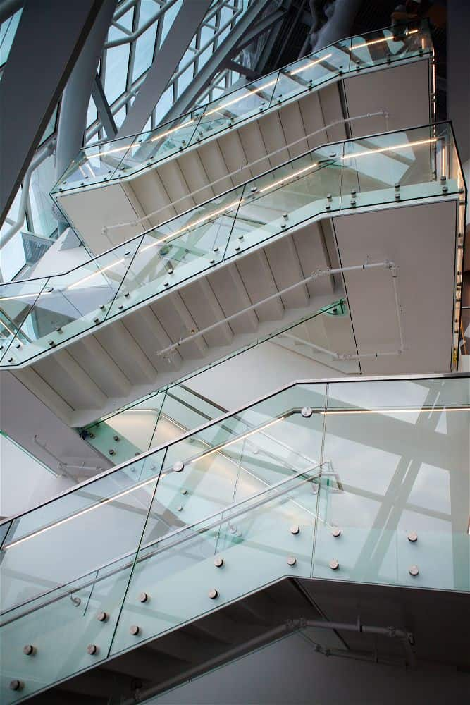 Canadian Museum for Human Rights building interiors staircase
