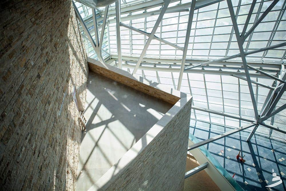 Canadian Museum for Human Rights building interiors steel