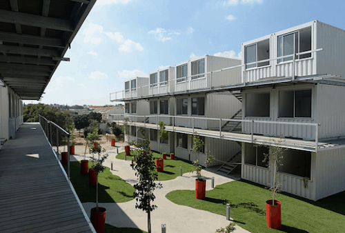 Israel student village shipping container homes