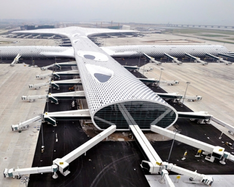 Shenzhen Bao'an International Airport Terminal 3 Studio Fuksas exterior 1