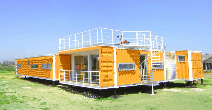 Shipping container home in Santiago, Chile