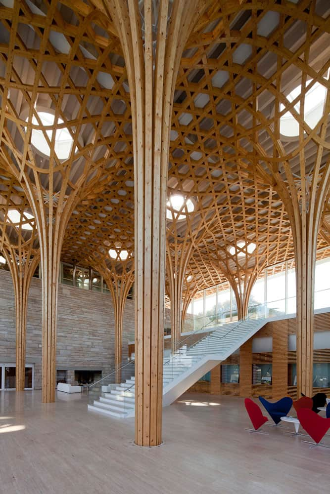 Nine Bridges Golf Club house by Shigeru Ban 6