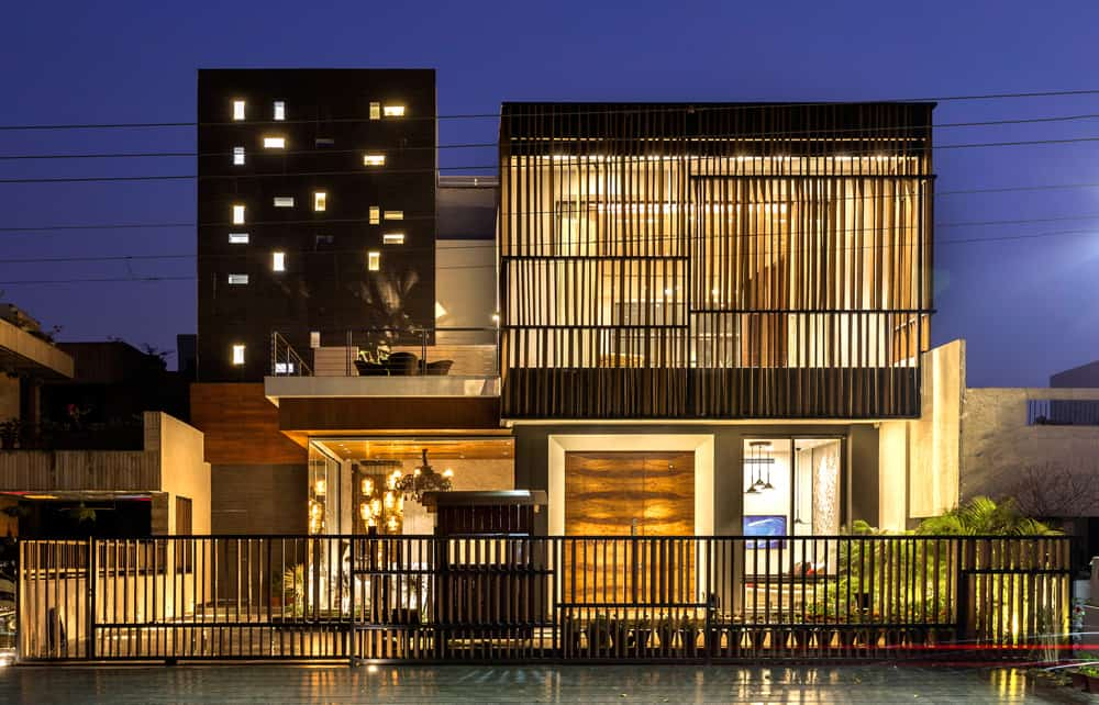 Front Elevation House Chandigarh : Pool yard house by studio ardete in india spatial