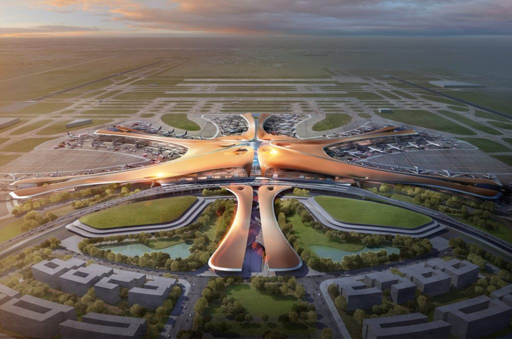 Beijing Capital International Airport zaha hadid architects